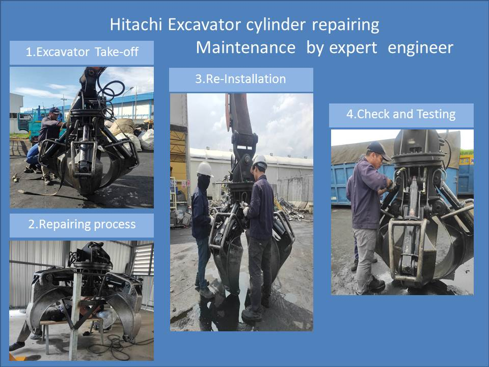 Hitachi Excavator cylinder  Repaired