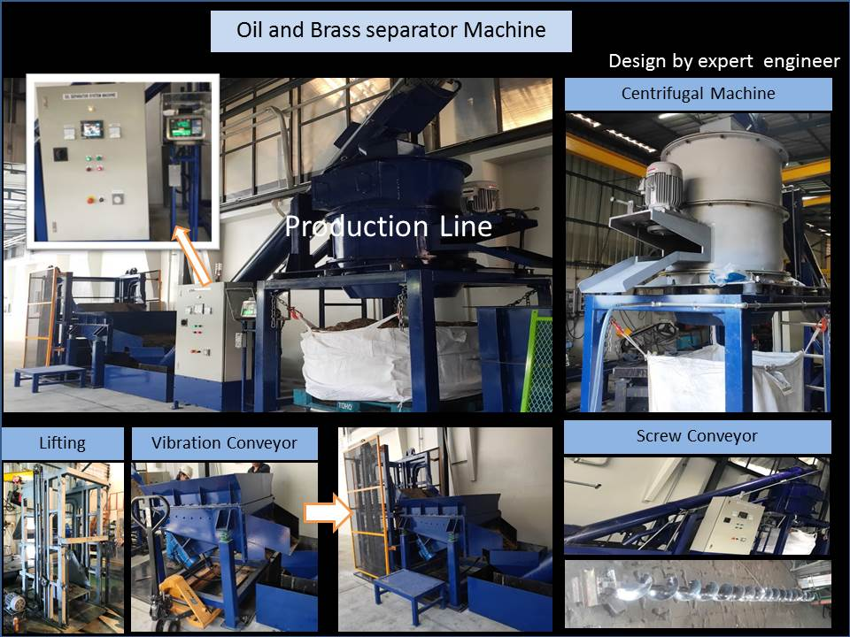 Oil and Brass separator Machine